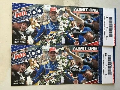 2017 Indianapolis 500  two (2) SEATS Paddock Penthouse