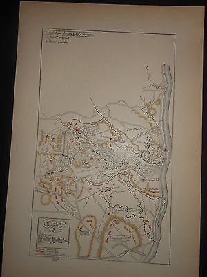 Battle Bemis Heights New York Revolutionary War Map Hand Colored