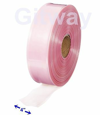 "4"" x 1075' Anti Static Poly Tubing Tube Plastic Bag Custom Bags on a Roll 4ML"