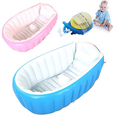 Baby Infant Inflatable Bath Tub Seat Mommy Helper Kid/Toddler Portable Bathtub