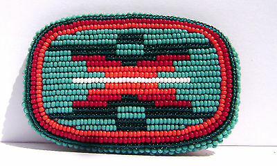 Southwestern Colorful Seed Beaded Belt Buckle
