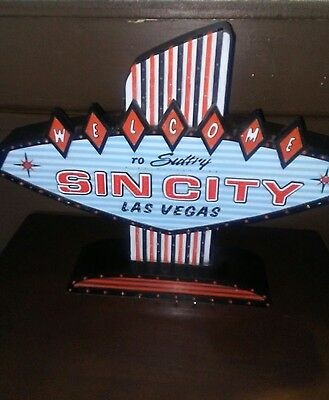 Vintage Welcome To Sultry Sin City Las Vegas Fiber Optic Sign
