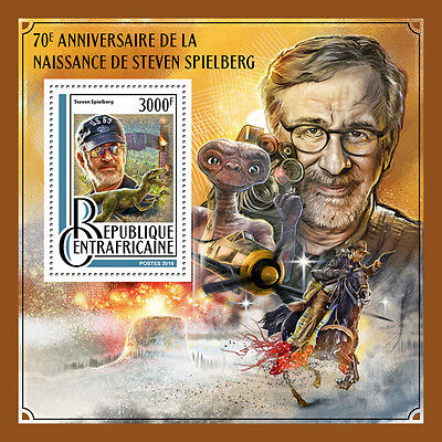 Central African Rep 2016 MNH Steven Spielberg 70th 1v SS Jurassic Park ET Stamps
