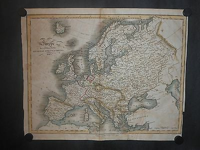 Original Map Europe According To The General Treaty Of Vienna Published 1815