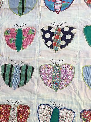 Antique Child's Butterfly Patterned Quilt
