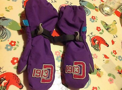 Didriksons Kids Mittens With Long Gauntlet Worn Once Size4 ( About Age 3-7 Yrs)