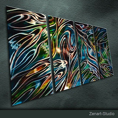 Original Metal Wall Sculpture Special Abstract Indoor Outdoor Decor by Zenart