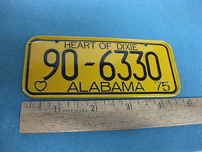 Vintage 1975 Post Cereal Premium, toy Bicycle License Plate, Alabama