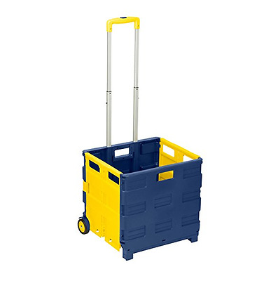 Utility Cart With Wheel Folding Rolling Crate For Shopping Collapsible Hand Home