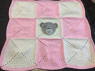 Handmade Crochet Baby Blanket. Me To You Bear. Tatty Teddy. Baby Shower.