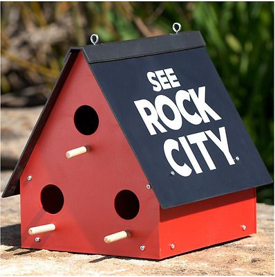 Rock City Gardens Outdoor Plastic Hanging Garden Decor Purple Martin Birdhouse