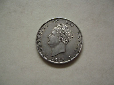 Silver Shilling 1826 Coin King George Iv About Uncirculated Grade