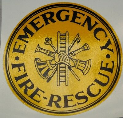 Emergency Fire Rescue Decal, Firefighting Decal, Reflective  #FD59