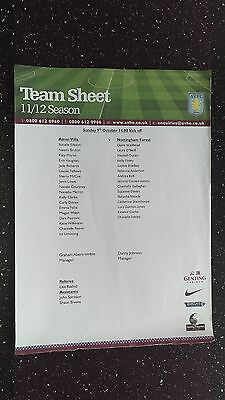 Aston Villa Ladies V Nottingham Forest Ladies 2011-12