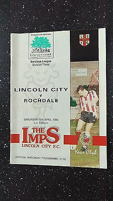 Lincoln City V Rochdale 1992-93