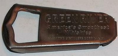 Vintage Green River Whiskey Bottle Opener and Cap