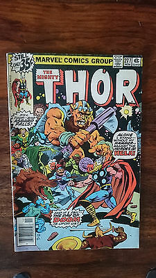 Marvel comics The Mighty Thor #277 1978 FN 1st print cents copy