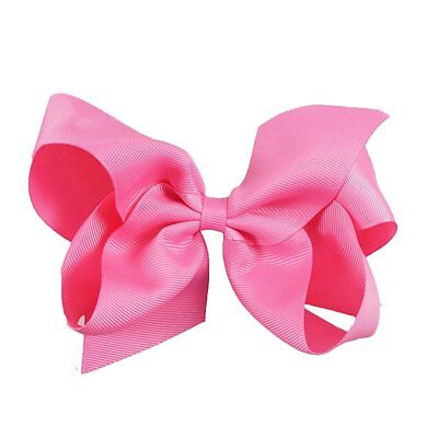 5inch Bright Pink Colour Boutique Bows Girls' Hair Clip