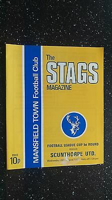 Mansfield Town V Scunthorpe United 1975-76