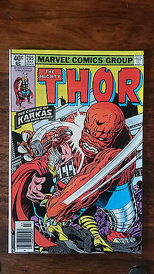 Marvel comics The Mighty Thor #285 1979 VF+ 1st print cents copy