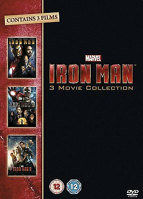 Iron Man Trilogy: 1 2 & 3 Movie Complete Box Set Collection | New | Sealed | DVD