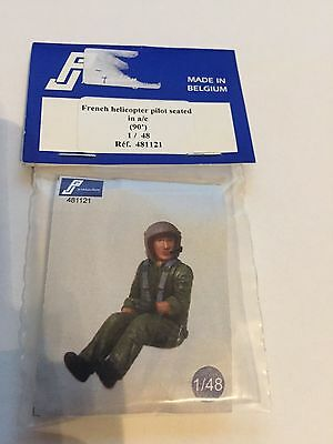 French Helicopter Pilot Seated (90) Pj Production 481121 1/48