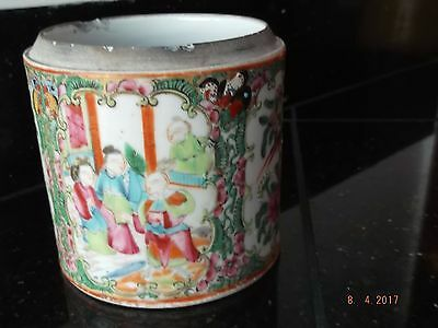 Antique Chinese Famille Rose Medallion Pot