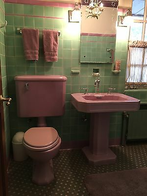 Pink Vintage Sink and Toilet set KOHLER   In beautiful condition