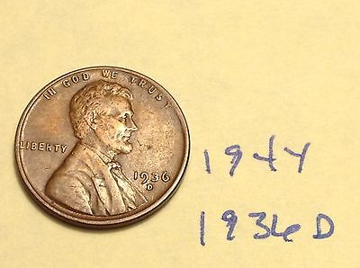 1936-D 1C BN Lincoln Cent (194Y)
