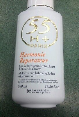 55+h paris multi vitamin lightening lotion with carrot oil 500ml