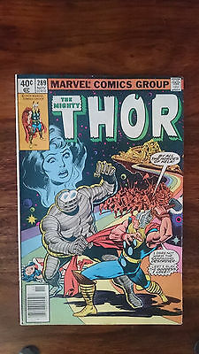 Marvel comics The Mighty Thor #289 1979 VF 1st print cents copy