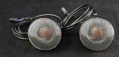 "Cycle Sounds 3"" Motorcycle Audio Speaker Set -Metal Chrome w Chrome Grill"
