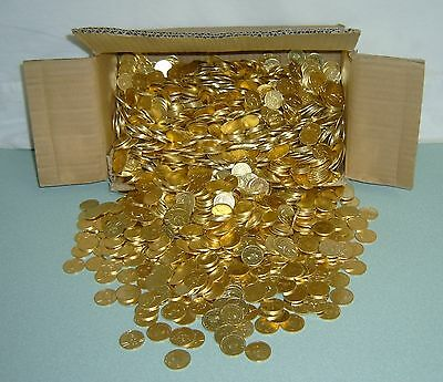 1000  ++Brand New++  Golden Slot Machine Tokens / Coins