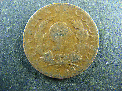 2 centavos 1948 B Colombia KM#210 Bronze coin 2c Colombie II