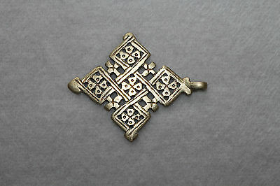 Kreuz-Anhänger koptisch orthodox Messing. Cross pendant coptic orthodox brass.