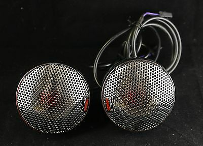 "Cycle Sounds 3.5"" Motorcycle Speaker Set -Metal Chrome w Chrome Grill"