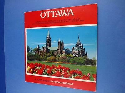 Ottawa Pictorial Booklet Travel Souvenir John Hinde Map