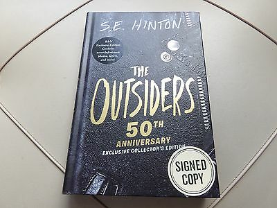 S. E. HINTON Signed Book The Outsiders 50th Anniversary Edition 2016