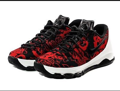 d1a2955471ca New Nike KD 8 EXT Red Floral Mothers Day Kevin Durant Black SZ 9 (806393