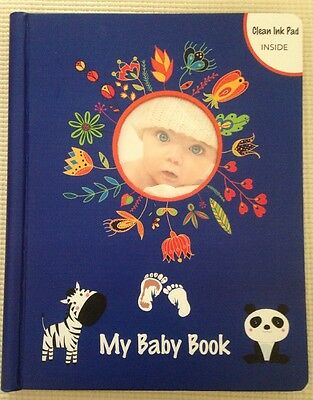 """Lola Cheng """"My Baby Book"""" baby memory book NEW with gift box and ink pad"""