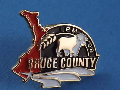Bruce County International Plowing Match 2008 Cow Pin Souvenir Button Collector