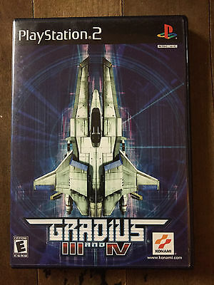 Gradius III and IV Sony PlayStation 2 PS2 System Complete Game  3 & 4