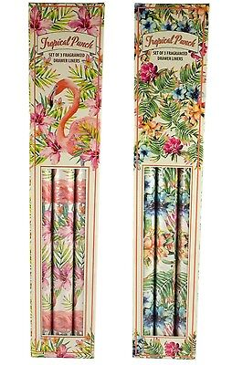 Scented Flamingo, Flower Drawer Liners Box Of 3 Tropical Punch Fragranced Sheets