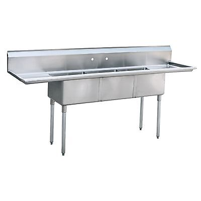 "Atosa MRSA-3-D Commercial Restaurant Stainless Steel 18"" Drainboard Sink NSF"