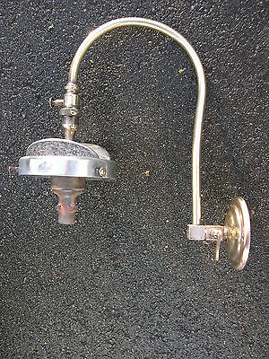 Heavy Brass Gas Mantle Lamp Wall Light, Bland, Complete, Not Converted 1920S