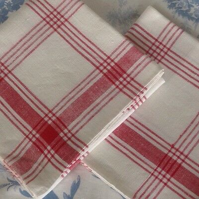 A Vintage Pair Of French Quality Linen tea towels Torchons - Excellent Condition