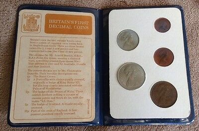 Great Britain First Decimal Coins Mint Set - 5 Coins