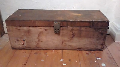 Vintage Wooden Trunk Chest Box Wood