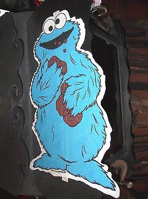 Vintage Cookie Monster Sesame Street Felt Pendant Wall Hanging 1971-1976
