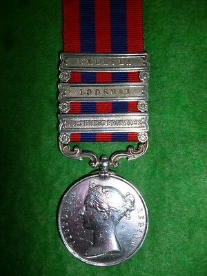 India General Service Medal 1854 - 95, with (3) Clasps to 4th Gurkha Regiment